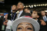IL State Rep Constance Howard watches the proceedings   at the 2008 Democratic National Convention...
