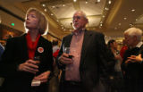 (from left) Brooke O'Malley, from Durango and Charles Heatherly from Centennial participate at the...