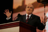 Previous candidates for the Republican Presidential nomination, former New York City mayor Rudy...