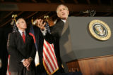 President George Bush flew into Buckley Airforce Base in Aurora to attend a fund-raiser at...