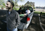 Danny Ledonne hangs out with his friends (L-R in truck ) Natalie Trujillo and Cory Antiel in Cole...