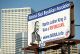 The National Black Republican Association has placed a billboard on the corner of Colfax and Pearl...