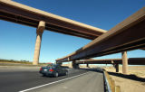 Major interchange work is being done on E-470 and Northwest Parkway. The construction is seen here...