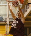 Rob Lewis #10 dunks a DU Pioneers practices at the Richie Center on DU Campus in Denver, Colo,...