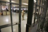 Female inmates are housed in a work release dorm in Building 21 at the Denver County Jail February...