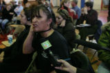 at the  6th Street Gym in Leadville, Colo, Tuesday, February 19, 2008.  A town meeting brought...