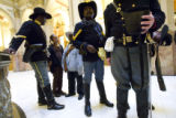 DM0726   The Buffalo Soldiers were at the State Capitol Wed. to present Gov. Bill Ritter with a...
