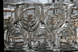 Wine glasses on display, Thursday morning, March 6, 2008, Evergreen. Stephen Menke (cq), the...