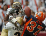 (DENVER, CO., DECEMBER 29, 2004)  University of Colorado's #26, Terrence Wheatley and #3, Tyrone...