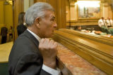 DM0076   Contract lobbyist Ruben Valdez, a former Colorado Speaker of the House, watches the...