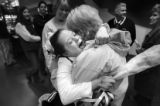 Three Cheers for Megan- Megan Bomgaars, 14, hugs her grandmother Barb McKeown after competing in...