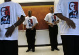 North Shore Senior High School Step Team members practice their Steps for Change routine that they...