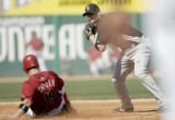 01055 Colorado Rockies' forces out Arizona Diamondbacks' Chris Snyder  at second in the second...