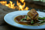 One of their favorite dishes, miso glazed black cod is pictured at Second Home in Denver, Colo,...
