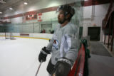 DM0469   Peter Forsberg participates in his first full-team practice since his return to the...