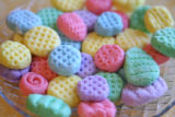 Easter candy.   Take a small amount of the mixture (about 2 tsp?)  and roll into a ball.  Flatten...