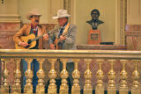L to R: Billy Whitfield (cq) and Cowboy Wes McKinley (cq)   (Rep. Wes McKinley (cq) D-Walsh)...