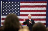 Bill Clinton stumps for Hillary at the Univ. of Wyoming Sports Complex Thursday night March 6,...