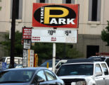 A sign advertizes all day parking in the 1300 block of Bannock Street Tuesday  morning July...