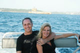 Rick Reilly and fiance Cynthia Puchniarz in Sydney. For Penny Parker column  photo courtesy of...