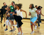 Sixth grade students in physical education class  at Aurora Quest k-8  in Aurora on Tuesday August...