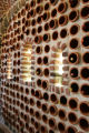 The wine cellar--made with clay pipes-- in Il Campanile, one of the houses in this Parade of Homes...