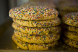 "Sprinkle Cookies called ""Polvorones"" are 50 cents a piece at La Abeja on July 31, 2008..."