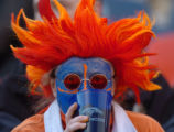 (Denver, Colorado, Dec. 12, 2004) A Broncos fan takes in some liquid  Sunday, Dec. 12, 2004, at...