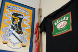 A Greateful Dead  poster hangs on the wall at Bella's Deli on First Street downtown Nederland on...