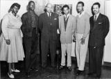 (unknown date) Barbara Jordan with the Texas Southern University Debate Team while she was in...