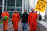 CODER103Protestors assembled early Tuesday  morning July 29,2008 in front of the Federal...