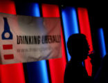 ***WEB CROP ONLY***Aaron Silverstein talks with friends at Drinking Liberally, a nationwide...