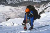 Jim Davidson climbs a snowfield on Mt. Rainier on June 20, 1992. On June 21, 1992, Jim was...