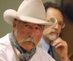 ( DENVER COLO. 8/18/04) File photo of Wes McKinley during a press conference. The Rocky Flats...
