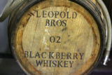 A barrel of blackberry whiskey made by Todd Leopold (cq) and Scott Leoplod (cq) Thursday September...