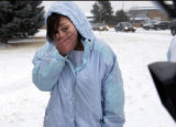 (MONTBELLO, Colo., January 4, 2005)  Montbello High School student Mary Montgomery pauses while...