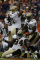 JOE1290 New Orleans Saints Charles Grant (94), Jonathan Vilma and Will Smith (91) celebrate a...