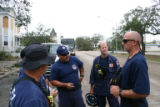 Rescue team manager Steve Magana, medical team manager Dr. Sam Killian and task force leader Rick...