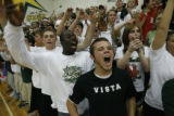 Mountain Vista HS fans support their team as they played against Highland's Ranch HS on September...