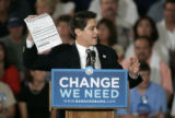 A U.S. Senator Barack Obama supporter urges people to sign up for voter registration before Obama...