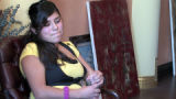 Brenda Aleman (cq), girlfriend of Francis Hernandez during interview in the office of attorney...