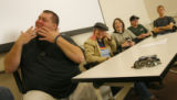 DM2937  Jim Osborn, 33, tells his coming out story to a classroom full of students as he...