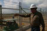 Joe Straley (cq), is in charge of the Tank Battery location, Thursday morning, September 2, 2008,...