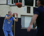 (JOE0071) Former Ralston Valley High standout Nick Fazekas, of Arvad, Colo., practices with the...