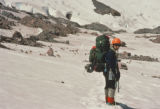 Jim Davidson on the lower Winthrop Glacier on June 18, 1992, during his climb of Mt. Rainier. On...