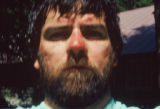 Jim Davidson (cq), shot this self-portrait of himself the day after climbing out of a crevasse...