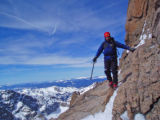 Jim Davidson (cq), of Fort Collins, climbs Longs Peak in Colorado in the spring of 2007. On June...