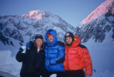 Rodney Ley, left, Terry Parker, center, and Jim Davidson (cq), right, on Denali. On June 21, 1992,...