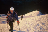 Photo of Rodney Ley, climbing partner of Jim Davidson and Mike Price, on Huayna Potosi in Bolivia...