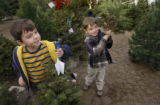 (DENVER Colo., December 13, 2004) Matthew, 5, and Nathan, 4,  of Aurora, (Their last name is...